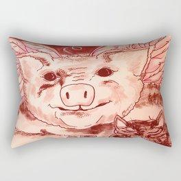 Pig n' Puss Rectangular Pillow