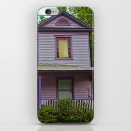 Quirky Purple House iPhone Skin