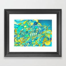 Cosmic Waterfall Framed Art Print