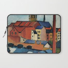 August Macke - St. Mary's with Houses and Chimney Laptop Sleeve