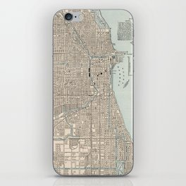 Vintage Map of Chicago (1893) iPhone Skin