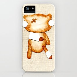 Poorly Sick - Get Well Soon Zombie Bear iPhone Case