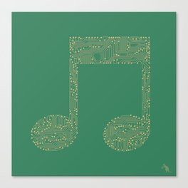 Techno Music Canvas Print