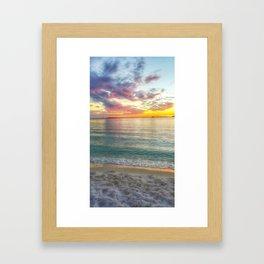 Kaleidoscope Sunset Framed Art Print