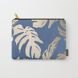 Simply Tropical Palm Leaves White Gold Sands on Aegean Blue Carry-All Pouch
