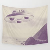 ufo Wall Tapestries featuring UFO by Grafiskanstalt