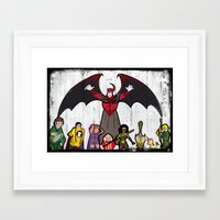 dungeons and dragons Framed Art Prints featuring DUNGEONS & DRAGONS by Zorio