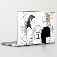 gemini Laptop & iPad Skins featuring Gemini by Cassandra Jean