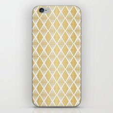 White and Gold Geometric Pattern iPhone & iPod Skin