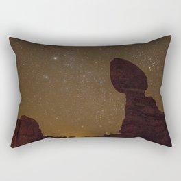 The Night Sky at Balanced Rock Rectangular Pillow