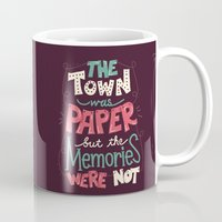 paper towns Mugs featuring Paper Towns: Town and Memories by Risa Rodil