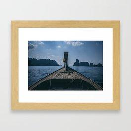 Let's Drift Away Framed Art Print