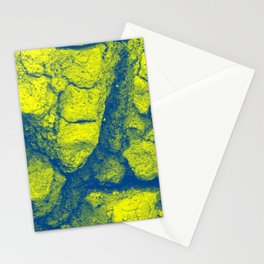 Abstract - in yellow & green Stationery Cards