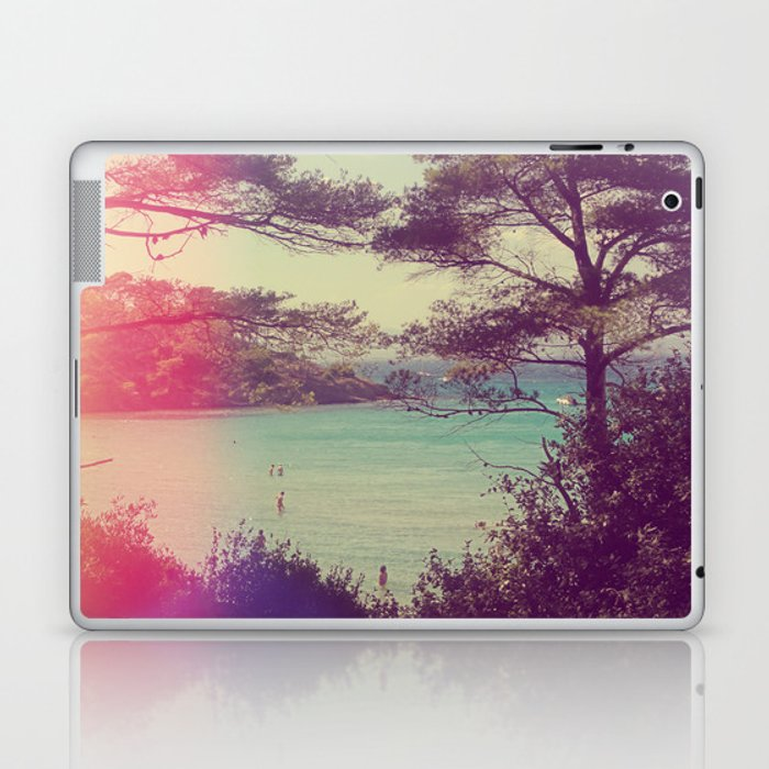 French Beach Laptop & iPad Skin
