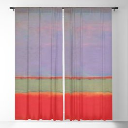 1951 No 6 Violet Green and Red by Mark Rothko HD Blackout Curtain