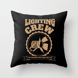 Theater Stage Lighting Crew Technician Throw Pillow