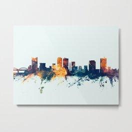 Fort Worth Texas Skyline Metal Print