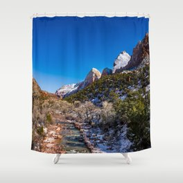 Virgin_River 4767 - Canyon Junction, Zion Utah Shower Curtain