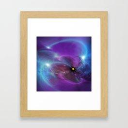Gravitational Distort Space Abstract Art Framed Art Print