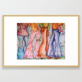 High Bottom Framed Art Print