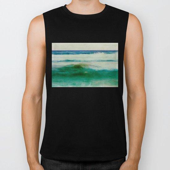 green sea, blue sea Biker Tank