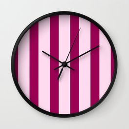 Happy Place Candy Stripes in Pink Wall Clock