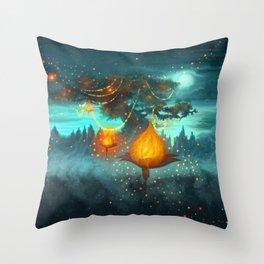 Magical lights Throw Pillow