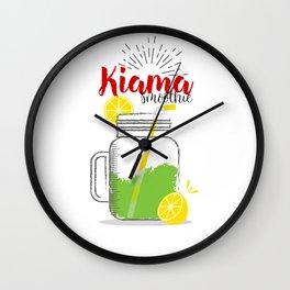 Kiama: Summer, sun, sea & smoothies Wall Clock