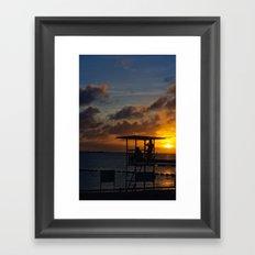 Super Typhoon Sunset II Framed Art Print