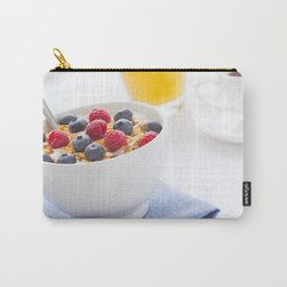 Healthy breakfast with muesli, fresh fruit, orange juice and coffee Carry-All Pouch