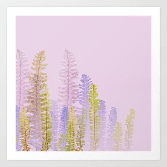 3d nature pink side Art Print
