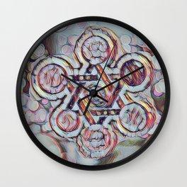 Silver Star Of David Wall Clock