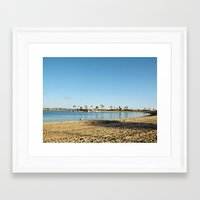 san diego Framed Art Prints featuring San Diego by Audrey Mourgues