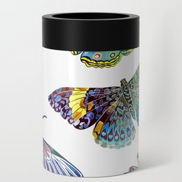 Butterfly Obsession in Blues Can Cooler