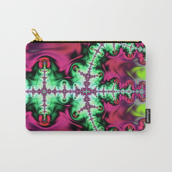 Life stream, fractal abstract art Carry-All Pouch