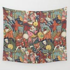 Night parade Wall Tapestry