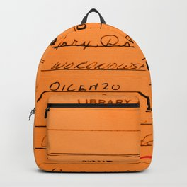 Library Card 23322 Orange Backpack