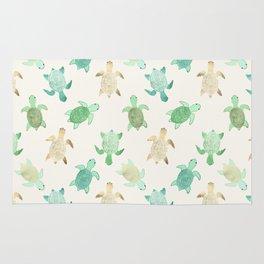 Gilded Jade & Mint Turtles Rug