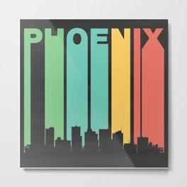 Vintage Phoenix Cityscape Metal Print