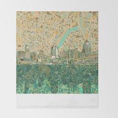 cincinnati city skyline Throw Blanket