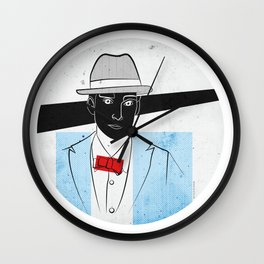 Mr. Hat Wall Clock