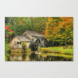 A Mabry Mill Autumn Canvas Print