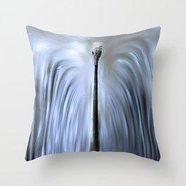 Albino Peacock Throw Pillow