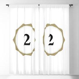 Vintage Number 2 Monogram Blackout Curtain