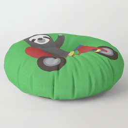 Sloth on Tricycle Floor Pillow