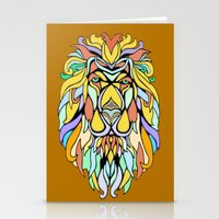metallic Stationery Cards featuring Metallic Lion by J&C Creations