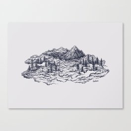 Cloud Mountains Canvas Print