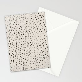 Silver Fawn Spots Stationery Cards