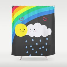 the truth about rainbows Shower Curtain