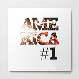 AME RICA #1 Metal Print